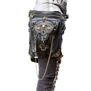 ウエストポーチ レディース メンズ レザー おしゃれ 2way レッグポーチ レッグバッグ カバン 鞄 bag ショルダーバッグ ヒップバッグNVBK7-AL226|cosplayshop