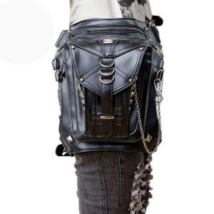 ウエストポーチ レディース メンズ レザー おしゃれ 2way レッグポーチ レッグバッグ カバン 鞄 bag ショルダーバッグ ヒップバッグNVBK7-AL229|cosplayshop