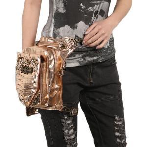 ウエストポーチ レディース メンズ レザー おしゃれ 2way レッグポーチ レッグバッグ カバン 鞄 bag ショルダーバッグ ヒップバッグNVBK7-AL230|cosplayshop
