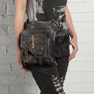 ウエストポーチ レディース メンズ レザー おしゃれ 2way レッグポーチ レッグバッグ カバン 鞄 bag ショルダーバッグ ヒップバッグNVBK7-AL232|cosplayshop