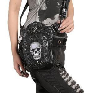 ウエストポーチ レディース メンズ レザー おしゃれ 2way レッグポーチ レッグバッグ カバン 鞄 bag ショルダーバッグ ヒップバッグNVBK7-AL235|cosplayshop
