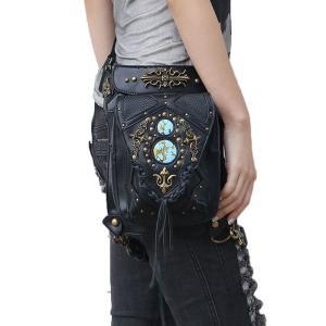 ウエストポーチ レディース メンズ レザー おしゃれ 2way レッグポーチ レッグバッグ カバン 鞄 bag ショルダーバッグ ヒップバッグNVBK7-AL237|cosplayshop