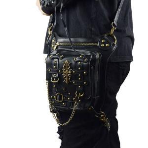 ウエストポーチ レディース メンズ レザー おしゃれ 2way レッグポーチ レッグバッグ カバン 鞄 bag ショルダーバッグ ヒップバッグNVBK7-AL240|cosplayshop