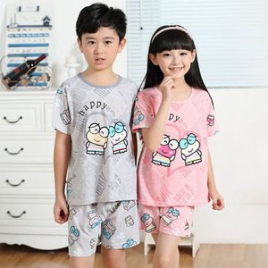 【子供 パジャマ】春夏 キッズ・ジュニア 女の子 男の子 寝巻き 子供ルームウェア スウェット 部屋着 半袖Tシャツ ショートパンツ 上下セットTSY-AL186 cosplayshop