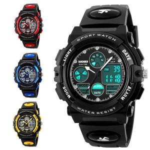 キッズウォッチ ジュニア 男の子 スポーツ 学生 腕時計 子供用腕時計 防水 デジタル 誕生日 おしゃれ TSB-AL228|cosplayshop