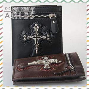 財布 メンズ 二つ折り財布 小銭入れ コインケース 男性用 お洒落 人気 オシャレ パンク 個性XDX2-AL269|cosplayshop