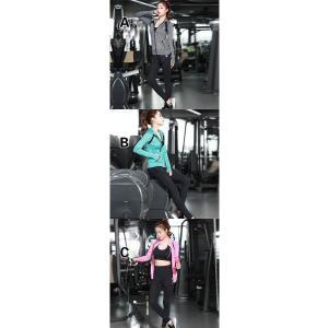 ヨガウェア 三点セット レディース トップス ヨガパンツ フィットネス ダンス 動きやすい トレーニング 吸汗速乾 超軽量 タイト 着痩せ レギンスYUD-AL183|cosplayshop|02