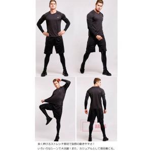 トレーニングウェア スポーツウェア メンズ フィットネス 四点セット 動きやすい ランニング トレーニング 吸汗速乾 超軽量 レギンスYUD-AL582|cosplayshop|06