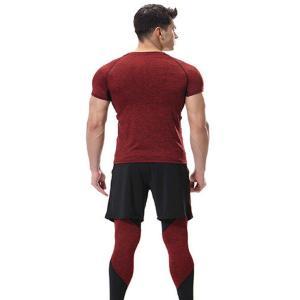 スポーツタイツ ランニングレギンス タイツト メンズ 新作 フィットネス 動きやすい ランニング トレーニング レギンス 吸汗速乾YUDQ-AL55|cosplayshop|03