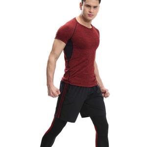 スポーツタイツ ランニングレギンス タイツト メンズ 新作 フィットネス 動きやすい ランニング トレーニング レギンス 吸汗速乾YUDQ-AL55|cosplayshop|05