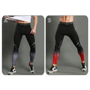 スポーツタイツ ランニングレギンス タイツト スポーツウェア メンズ フィットネス 動きやすい ランニング トレーニング レギンスYUDX-AL387|cosplayshop|02