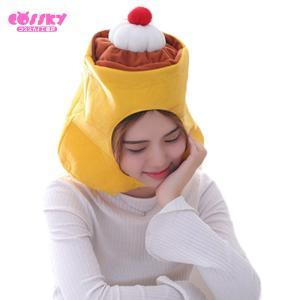 ハロウィン コスプレ プリン 帽子 かぶり物 おもしろ グッズ キャップ プレゼント  かわいい  帽子 発表会|cossky