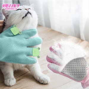 ペットブラシ 手袋 猫 ブラッシング ブラシ 猫ブラシ 抜け毛取り 猫犬用 マッサージ手袋 グローブ...