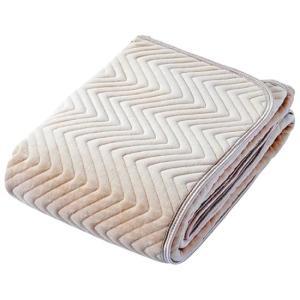 京都西川 (表地パイル部分)綿100%シンカーシャーリングやわらか敷きパッド ワイドダブル 154×...