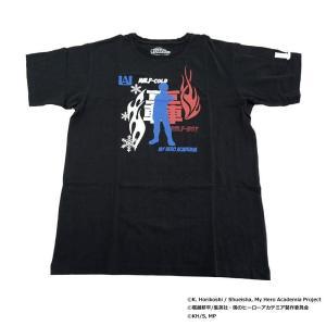僕のヒーローアカデミア Tシャツ 轟焦凍 シルエット X513-823 040 ブラック|costsaver