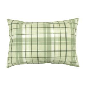 メリーナイト オーガニックコットン 先染め生地 枕カバー 43×63cm グリーン MO61012-53 costsaver