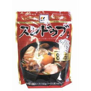 スンドゥブ用は、豆腐を入れるだけで本場韓国の家庭の味が手軽に作れる濃縮スープです。 あさりなどの魚介...