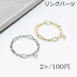 指輪リングパーツ チェンリングカン付き【2ヶ】