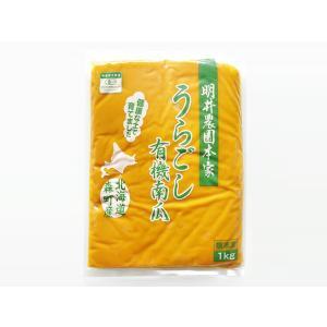 <冷凍>北海道産有機かぼちゃペースト(くりりん)1kg