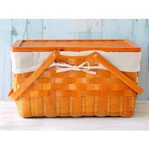 木製 蓋付きバスケット(大)【お得プライス】
