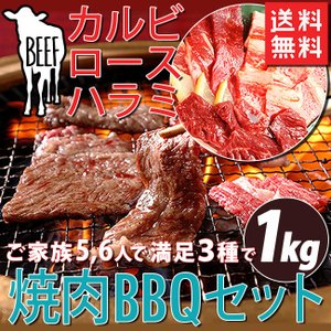 BBQ 【送料無料】 焼肉 焼き肉セット 3種 合計1kg ...