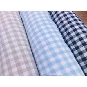 麻のヒンヤリ感が気持ちい!145センチ巾 ブロックチェック柄 リネン生地|cottonhouse-39