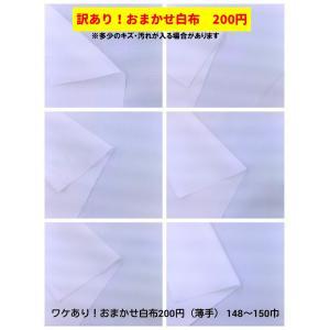訳あり!おまかせ白布 200円生地 薄手タイプ 148〜150センチ巾|cottonhouse-39