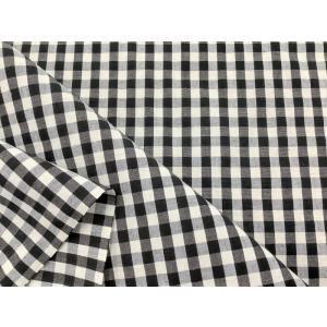 ギンガムチェック生地 白×黒|cottonhouse-39