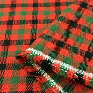 生地 タータン チェック 布(赤×緑×黒)綿 コットン 安い 布地 手芸 cottonhouse-cecile