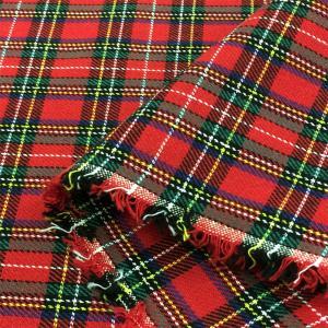 生地 タータン チェック 布(赤×緑、白黄格子)綿 コットン 布地 安い/手芸|cottonhouse-cecile