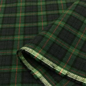 生地 タータン・オーバー チェック 布(緑×紺)綿 コットン 布地 安い/手芸|cottonhouse-cecile