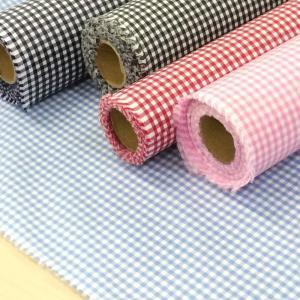 ラミネート生地 布 ギンガムチェック つや消し(ピンク 青 赤 黒 紺)テーブルクロス 切り売り 安い 手芸
