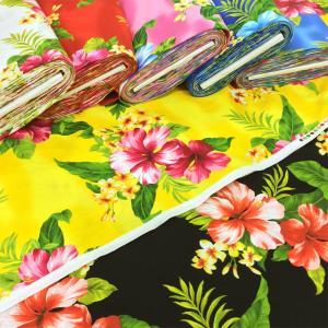 生地 ハワイアン 布 ハイビスカス プリント ブロード 綿 布地 ファブリック 手芸 安い 生地屋 生地の店 フランダンス