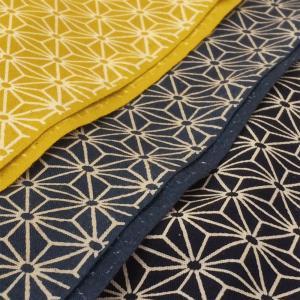 生地 和柄 布 麻の葉模様 おしゃれ 布地 和風 和調/布 シーチング 綿 手芸 伝統柄|cottonhouse-cecile