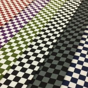 市松模様 生地 和柄 市松格子 チェック 布 綿100% 布地 手芸 Gポプ 紺 赤 紫 緑 黒 グレー 系