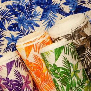 キルティング生地 キルト ハワイアン柄 トロピカルリーフ ボタニカル 布 布地 緑 ブルー グレー 手芸