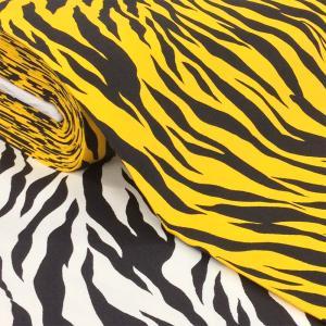 トラ柄 ゼブラ柄 生地 ツイル 布 綿 鬼のパンツ 動物柄 寅 虎 布地/手芸 節分 衣装/白 黄色