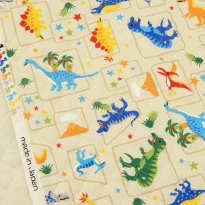 キルティング 生地 恐竜柄 ジュラシックパーク キルト ベージュ 子供 男の子 入園入学 布 手芸