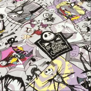 布 生地 ナイトメア ビフォア クリスマス 綿 キャラクター オックス 布地 手芸 ディズニー/メール便可|cottonhouse-cecile