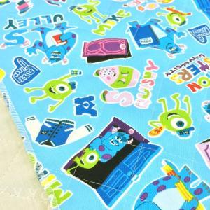 子供たちの入園入学グッズ準備に人気のモンスターズインクのキルティング生地。 袋物、カバーなどにオスス...