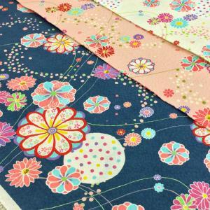 リップル 生地 浴衣 ゆかた 布 花柄 和柄 komachi 甚平 布地 ポプリンリップル 手芸 子供 おしゃれ かわいい