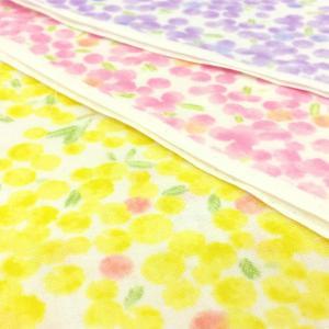 生地 ダブルガーゼ 花柄 水彩画タッチ 布 布地 ピンク 黄色 紫 手芸/メール便可