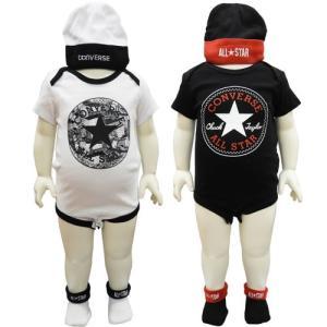 CONVERSE コンバース ベビー服 ベビー服セット 半袖 ボディスーツ  帽子 ブーティ 3点セット 出産祝い 60cm 70cm|couchetot-for-child