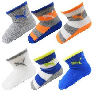 PUMA プーマ ベビー ソックス 靴下 6足セット 12/24ヶ月 10〜12cm 出産祝い|couchetot-for-child