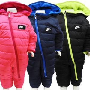 NIKE ナイキ ベビー服 ジャンプスーツ 防寒着 オールインワン カバーオール 出産祝い ピンク ネイビー ブラック 50cm 60cm 70cm 80cm|couchetot-for-child
