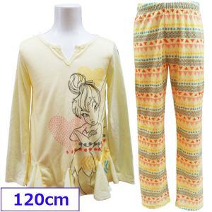 Disney ディズニー ティンカーベル キッズ 子供用 パジャマ 寝巻 長袖 女の子 120cm 【メール便指定で送料無料】|couchetot-for-child