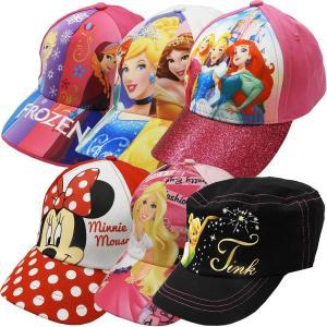 ディズニー プリンセス DISNEY PRINCESS 女の子 キャラクター キャップ 帽子 ミニーマウス ティンカーベル アナと雪の女王 ソフィア バービー|couchetot-for-child