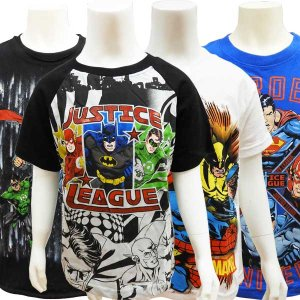 JUSTICE LEAGUE ジャスティスリーグ マーベル アメコミ 子供服 Tシャツ キッズ カッ...