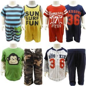 Carter's カーターズ ベビー服 ロンパース Tオール セットアップ 長袖Tシャツ 2PIECE セット 50cm 60cm70cm 80cm 85cm|couchetot-for-child