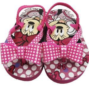 ビーチサンダル サンダル 子供用サンダル 女の子用サンダル Disney ディズニー ミニーマウス バックベルト付 ピンク 15cm 16cm 17cm 18cm 19cm|couchetot-for-child